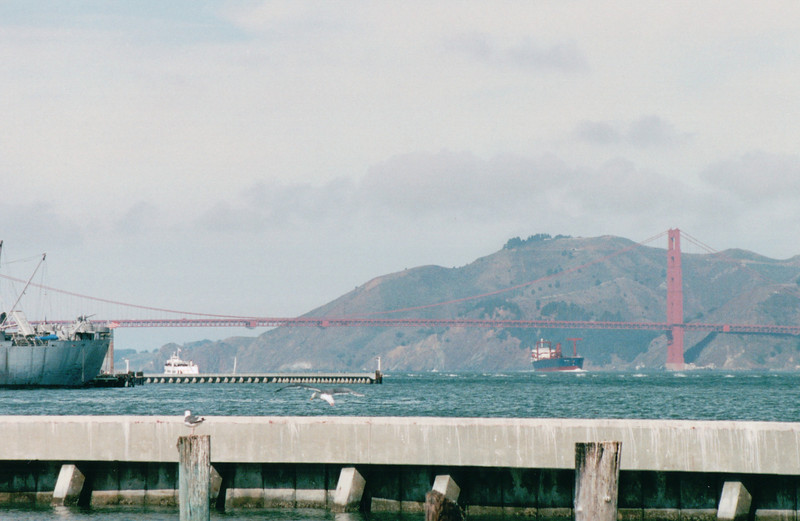 View of Golden Gate Bridge From Pier 39 - San Francisco, CA  9-7-03