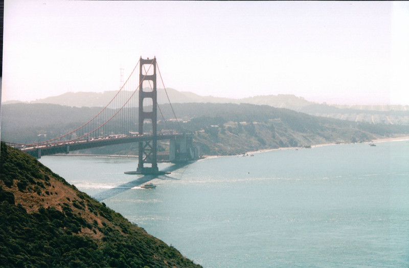 View of Bay and Golden Gate Bridge - San Francisco, CA  9-8-03
