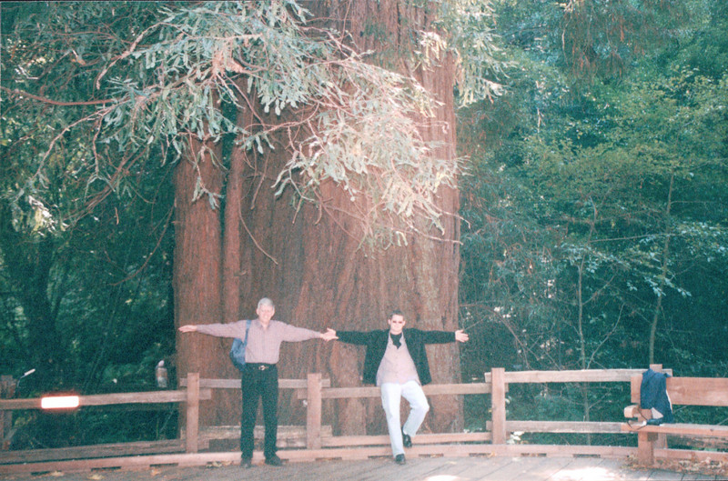 Randal and Ben at a Huge Redwood - Muir Woods National Monument, CA  9-8-03