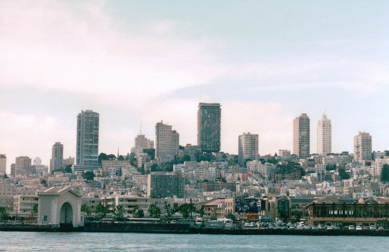 Skyline from Pier 41 - Boarding Boat to Alcatraz - San Francisco, CA  9-7-03
