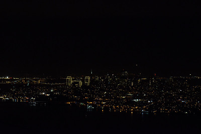 Nighttime view of Downtown San Francisco, California, USA