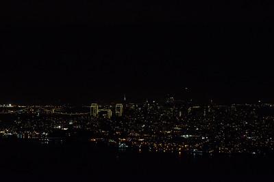 Nighttime view of Downtown San Francisco, California, USA