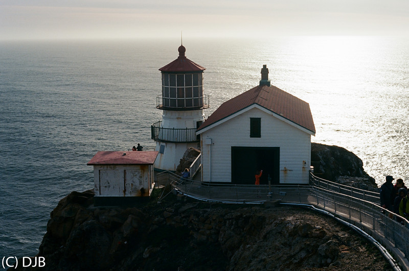 Point Reyes Light Station , Marin County, CA.   Image Copyright 2014 by DJB.  All Rights Reserved.  www.DaveXMasterworks.com, www.facebook.com/DaveXMasterworksPhoto.  Film Processing & Scanning by North Coast Photo Services.
