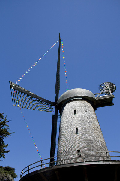 Golden Gate Park Windmill. Image Copyright 2011 by DJB.  All Rights Reserved.