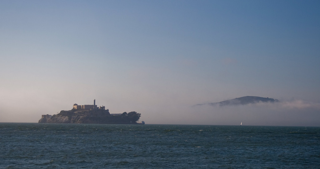 Alcatraz and Angel Island, San Francisco, CA. Image Copyright 2009 by DJB.  All Rights Reserved.