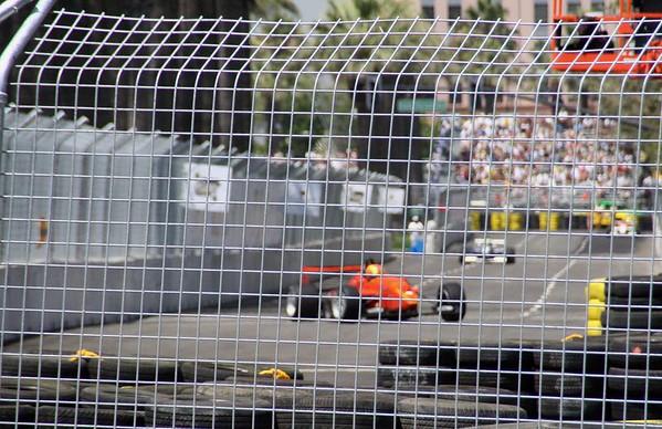 Atlantic cars racing to turn #4.