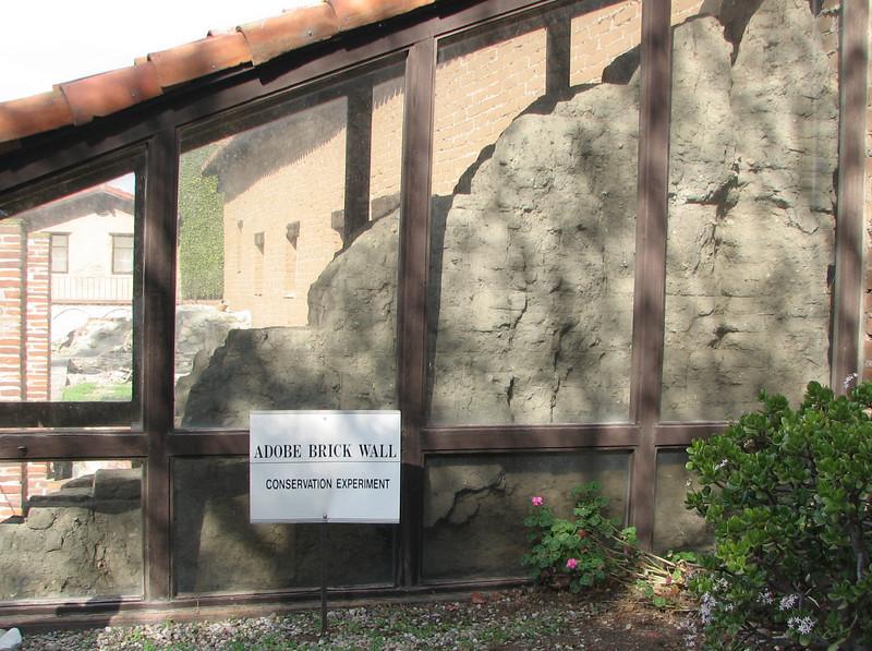 Adobe Brick Wall - Mission San Juan Capistrano 2-12-07