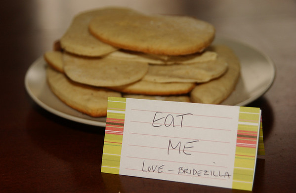 "Note on the dud cookies from ""Bridezilla""!!"