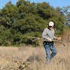 Randal Gets a Walking Stick From the Field - Santa Rosa Plateau Ecoglogical Reserve - Murrieta, CA  2-15-07