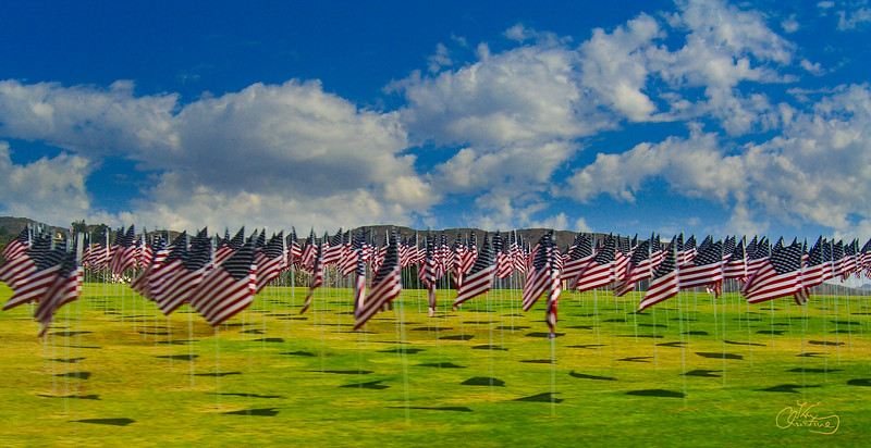 Flags at Pepperdine University
