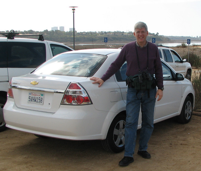 Our Rental Car - Chevy Aveo - Upper Newport Bay Nature Preserve 2-12-07