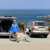 2020-08-17_18_Montana de Oro_Tony with bikes.JPG<br /> <br /> Getting bikes ready for a ride along the Bluff Trail at Montana de Oro State Park