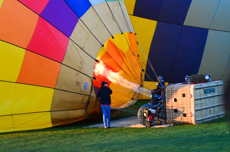 Getting Ready for a Balloon Flight over Napa Vineyards