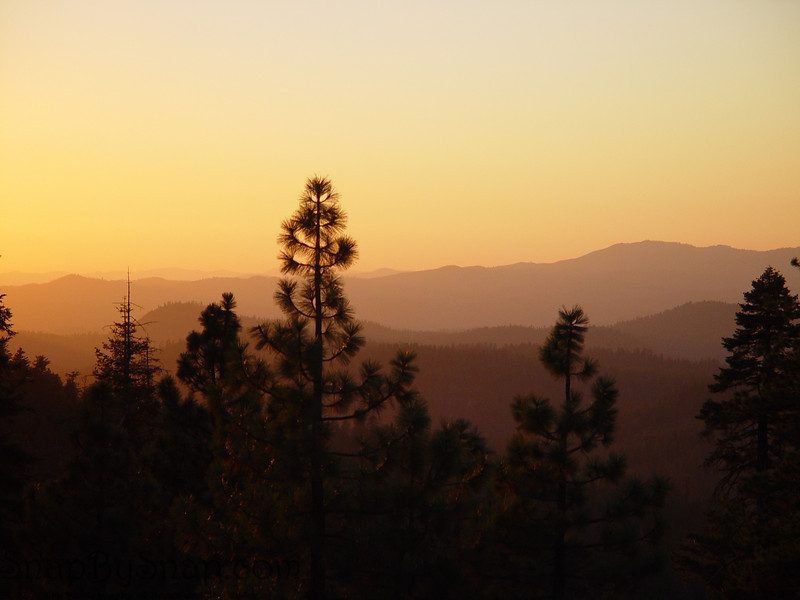 Sunset from high up in Yosemite.