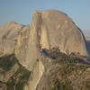 Half Dome in the evening from Glacier Point.