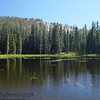 This is a snow melt lake high in the Sierra mountains of Yosemite.