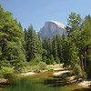 River flowing away from half dome.