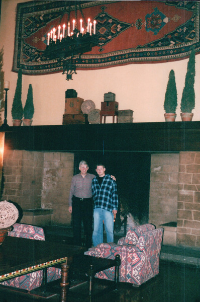 Randal and Ben in Ahwahnee Hotel - Yosemite National Park  9-9-03