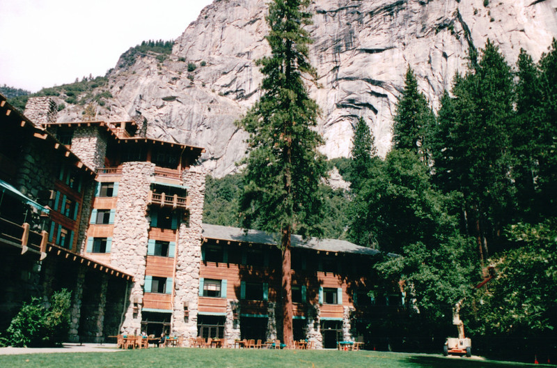 Ahwahnee Hotel - Yosemite National Park  9-9-03<br /> Completed in 1927, it features a blend of design influences including Art Deco, Native American, Middle Eastern and Arts & Crafts Movement.