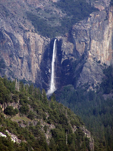 Bridalveil Falls tumbles 620 feet, and is the first waterfall seen as you come from the south.