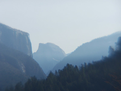Classic view of El Capitan & Half Dome