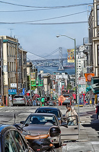 The Streets of San Francisco with Bay Bridge