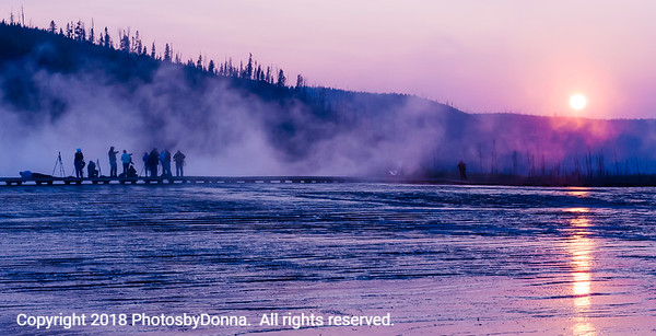 Photo Op:  Sunset in Yellowstone