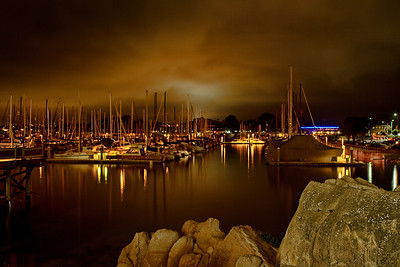 Monterey Bay Marina at Night
