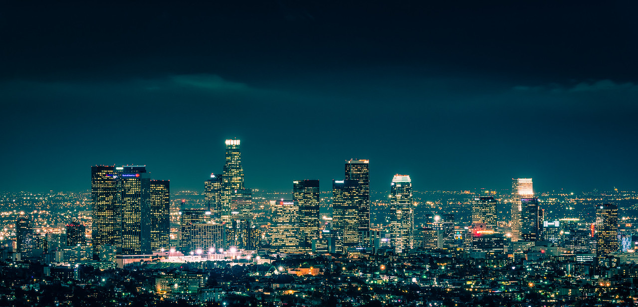 Los Angeles Skyline-Blue