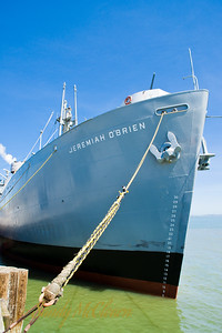 The S.S. Jeremiah O'Brien is one of only two restored and operational Liberty ships left over from the Second World War.