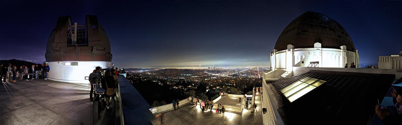 Griffiths Observatory Feb 8 2014 - LA night Panorama