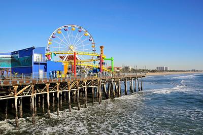 Santa Monica, California, February 2008 - Pacific Park, the amusement park located on the Santa Monica Pier.  The ferris wheel is the world's only solar-powered ferris wheel.