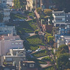 Lombard Street as seen from Coit Tower.