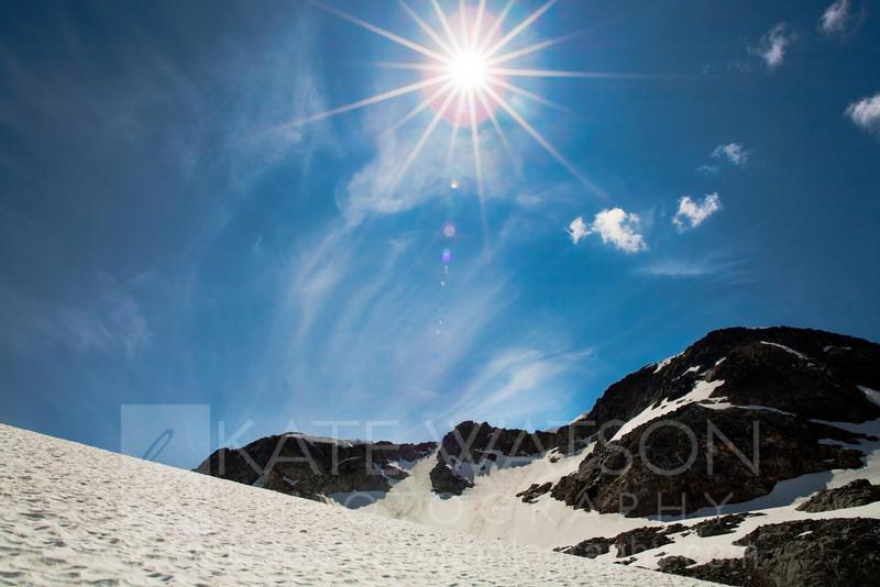 Sun over Whistler Mountain