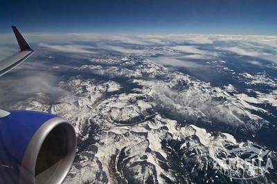Flying over Aspen, Colorado