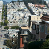 View from Russian Hill on Lombard Street.