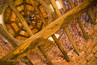 The interior of one of the towers in the Castello di Amorosa winery.