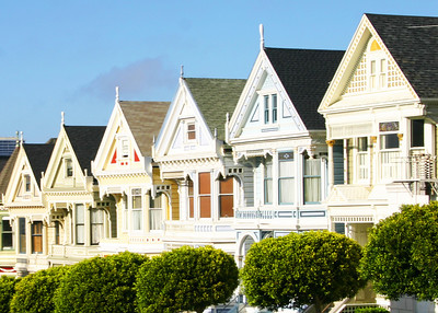 The famous 'Painted Ladies', San Francisco, CA