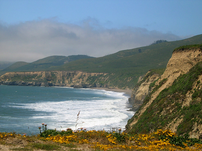 Looking out towards Kelham Beach from Arch Rock, Point Reyes, California