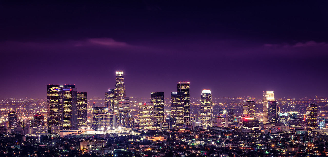Los Angeles Skyline-Purple