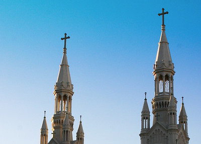 Steeples of Sts. Peter and Paul Church, San Francisco, CA