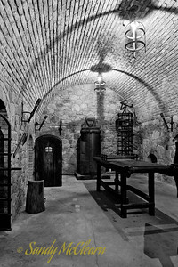 A recreated torture chamber (the highlight of every wine tour, I am sure) at the Castello di Amorosa. All of the equipment are replicas, because the last thing you need is a haunted winery. That's just bad for business.