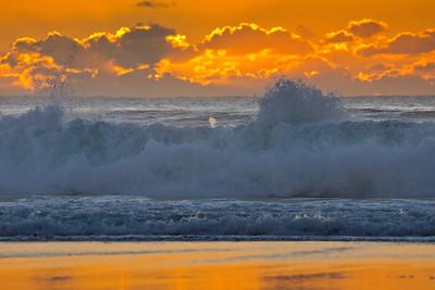 waves at Pebble beach