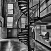 Spiral stairs on Alcatraz - San Francisco, CA
