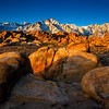 Here comes the sun! Alabama hills, eastern Sierras.