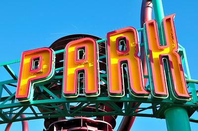 Amusement Park Sign, Santa Monica Pier