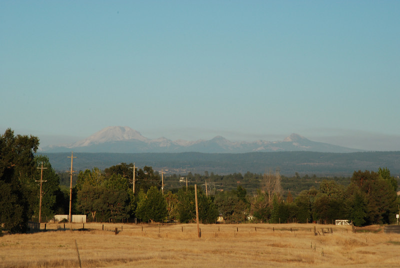 """<span id=""""title"""">Lassen from Red Bluff </span> You can see Lassen from hundreds of miles away. It was once a much larger volcano that was thousands of feet higher, which you can kind of tell in this photo."""