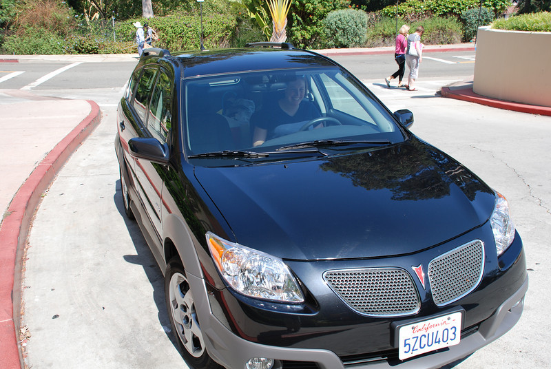"<span id=""title"">Rental Car </span> Black Pontiac Vibe. It was vibalicious!  Trip itinerary:  8/3: Santa Barbara  8/4: Hearst Castle, Elephant Seals, Central Coast  8/5: Monterey Bay Aquarium, 17-mile drive, Pebble Beach  8/6: Big Sur, Julia Pfeiffer Burns SP, Andrew Molera SP  8/7: UCSC, Berkeley Rose Garden  8/8: Sonoma County Wine Tour  8/9: Petrified Forest, Geyser, Calistoga  8/10: Lassen Volcanic National Park  8/11: Bidwell Mansion, Sierra Nevada Restaurant, Wedding!  8/12: Sacremento, drive back to LA"