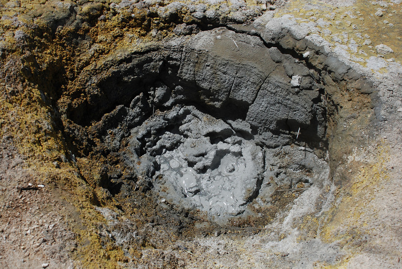 """<span id=""""title"""">Boiling Mud, Bumpass Hell </span> Too wet to be a steam vent, too dry to be a boiling spring"""