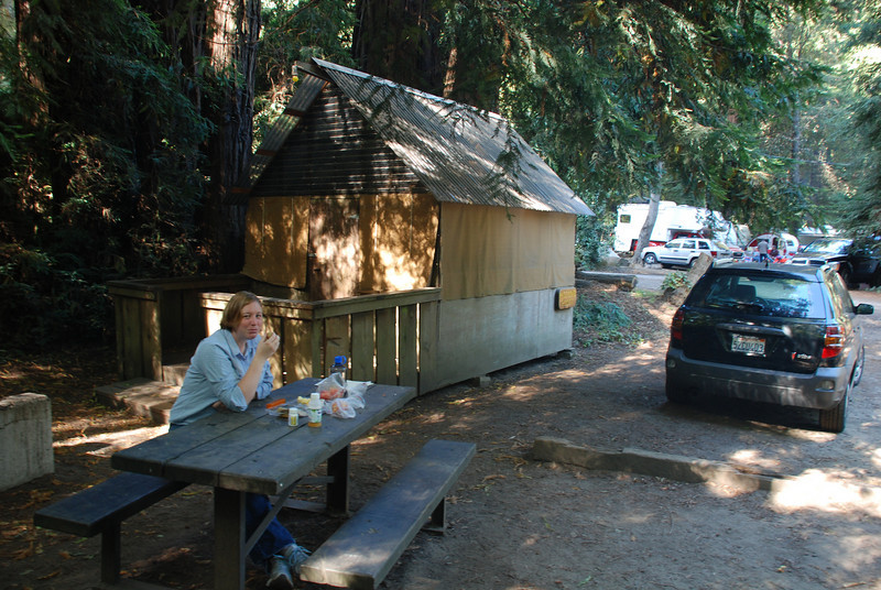 """<span id=""""title"""">Tent Cabin! </span> So you have to make reservations to camp or stay in Big Sur like 1 year in advance. We didn't, so we got stuck with this odd, overpriced tent cabin."""